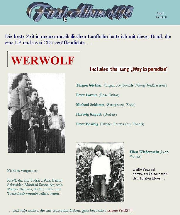 WERWOLF - CREATION (1982) Werwolf-kl